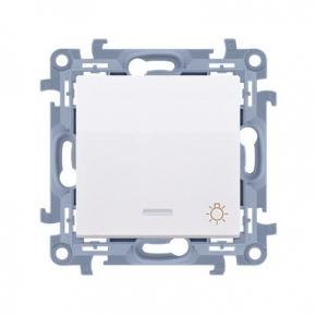 Biały przycisk zwierny światło z podświetleniem  Simon 10 CS1L.01/11 Kontakt-Simon