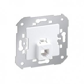 Białe gniazdo telefoniczne pojedyncze RJ11 Simon 82 75480-30 Kontakt-Simon