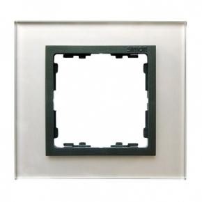 Ramka pojedyncza szklana szara / grafit Simon 82 Nature 82817-35 Kontakt-Simon