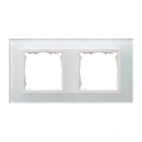 Ramka podwójna szklana biały/biały Simon 82 Nature 82627-30 Kontakt-Simon