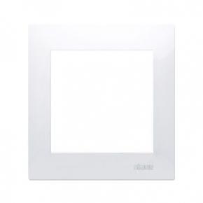 Biała ramka pojedyncza DR1/11 Simon 54 Premium Kontakt-Simon