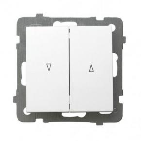 Włącznik żaluzjowy biały ŁP-7G/m/00 OSPEL