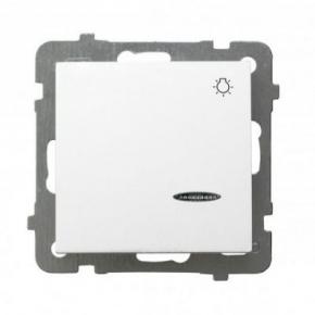 Włącznik zwierny światło z podświetleniem biały ŁP-5GS AS OSPEL