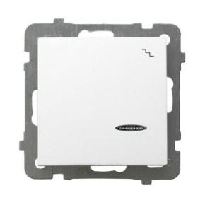 Biały włącznik schodowy z podświetleniem ŁP-3GS/m/00 AS OSPEL