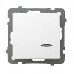 Włącznik jednobiegunowy z podświetleniem biały ŁP-1GS AS OSPEL