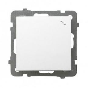 Biały włącznik schodowy podtynkowy ŁP-3G AS OSPEL