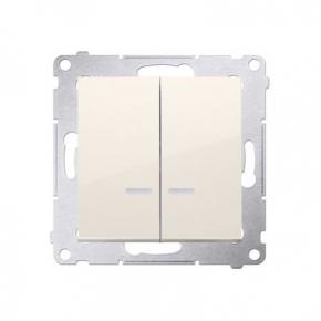 Włącznik świecznikowy z podświetleniem LED do wersji IP44 kremowy DW5BL.01/41 Simon 54 Kontakt-Simon