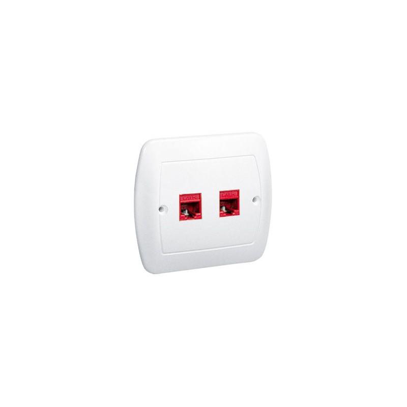 Gniazda-komputerowe - białe gniazdo sieciowe podwójne rj45 af52/11 simon akord kontakt-simon firmy Kontakt-Simon
