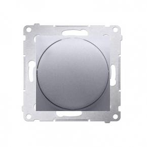 Ściemniacz do LED naciskowo-obrotowy jednobiegunowy srebrny mat DS9L.01/43 Simon 54 Kontakt-Simon