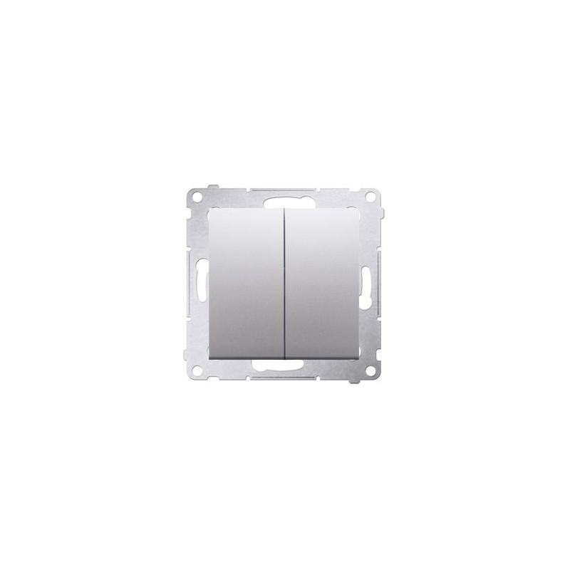 Wylaczniki-podwojne - włącznik świecznikowy srebrny mat dw5a.01/43 simon 54 kontakt-simon firmy Kontakt-Simon