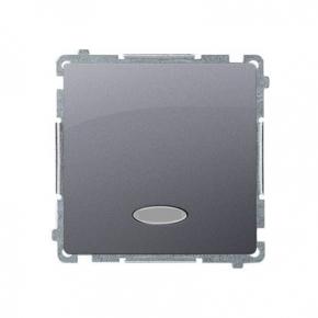 Włącznik jednobiegunowy z podświetleniem LED kolor niebieski (moduł) szybkozłączka inox BMW1L.01/21 Simon Basic Kontakt-Simon