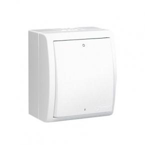 Włącznik dwubiegunowy bryzgoszczelny biały 10AX AQW2/11 Simon Aquarius Kontakt-Simon