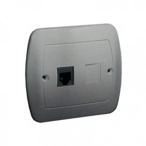 Gniazdo telefoniczne pojedyncze RJ12 aluminiowy AT1/26 Simon Akord Kontakt-Simon