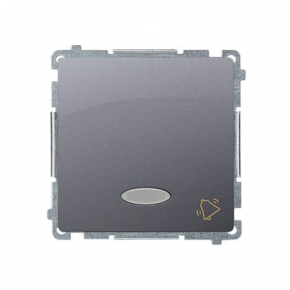 Przycisk dzwonek z podświetleniem LED kolor niebieski (moduł) szybkozłączka inox BMD1L.01/21 Simon Basic Kontakt-Simon