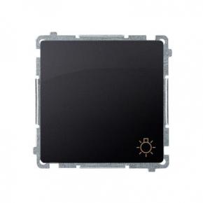 Przycisk zwierny światło (moduł) szybkozłączka grafit mat BMS1.01/28 Simon Basic Kontakt-Simon