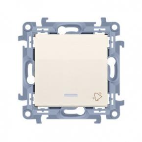 Kremowy przycisk dzwonek z podświetleniem LED CD1L.01/41 Simon 10 Kontakt-Simon