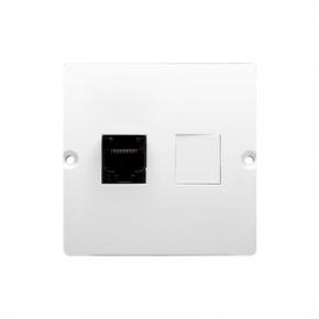 Białe gniazdo komputerowe RJ45 kat.5e (moduł) BMF51.02/11 Simon Basic Kontakt-Simon