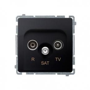 Gniazdo antenowe R-TV-SAT końcowe/zakończeniowe tłum.:1dB grafit mat BMZAR-SAT1.3/1.01/28 Simon Basic Kontakt-Simon