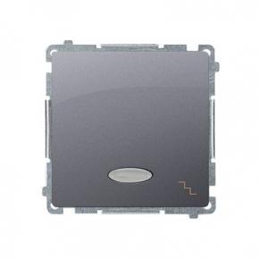 Włącznik schodowy z podświetleniem LED kolor niebieski (moduł) szybkozłączka inox BMW6L.01/21 Simon Basic Kontakt-Simon