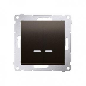Włącznik świecznikowy z podświetleniem LED do wersji IP44 brązowy mat DW5BL.01/46 Simon 54 Kontakt-Simon