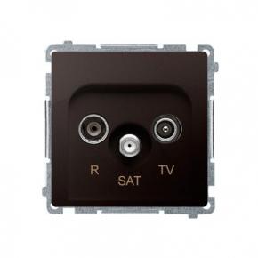 Gniazdo antenowe R-TV-SAT końcowe/zakończeniowe tłum.:1dB czekoladowy mat BMZAR-SAT1.3/1.01/47 Simon Basic Kontakt-Simon