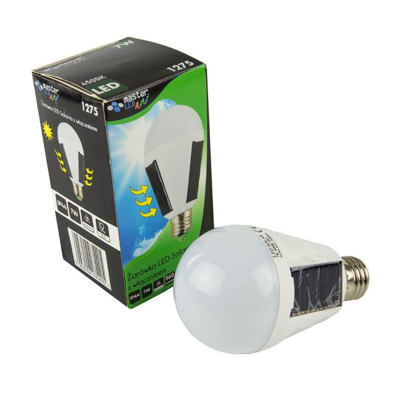 Gwint-trzonek-e27 - żarówka led solarna z włącznikiem o mocy 7w 4500k e27 1275 master led firmy