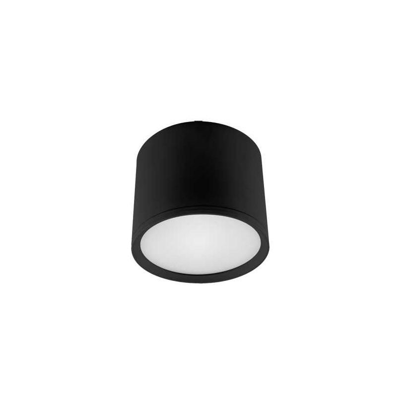 Oprawy-sufitowe - oprawa sufitowa led o mocy 10w czarna w kształcie walca 4000k rolen led 03781 ideus firmy IDEUS