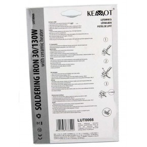 Pozostale-elektronarzedzia - lutownica kolbowa z grzałką ceramiczną 30-130w/230v lut0066 kemot