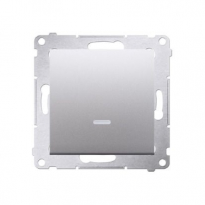 Włącznik jednobiegunowy z podświetleniem LED srebrny mat DW1L.01/43 Simon 54 Kontakt-Simon