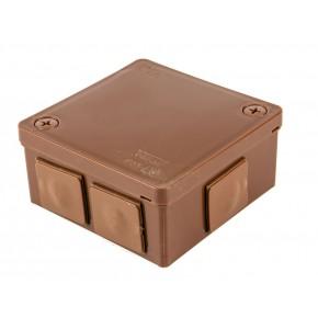 Puszki-natynkowe - puszka natynkowa brązowa dławicowa ip55 022-02 viplast