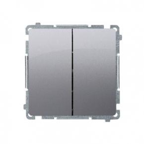 Włącznik schodowy podwójny (moduł) zaciski śrubowe inox BMW6/2.01/21 Simon Basic Kontakt-Simon