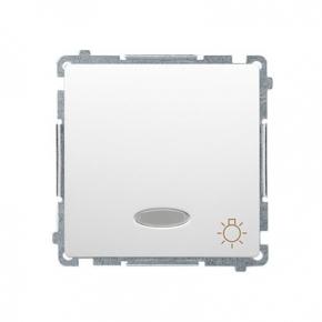 Wylaczniki-typu-swiatlo-zwierne - biały przycisk zwierny światło z podświetleniem led kolor niebieski (moduł) szybkozłączka bms1l.01/11 simon basic kontakt-simon