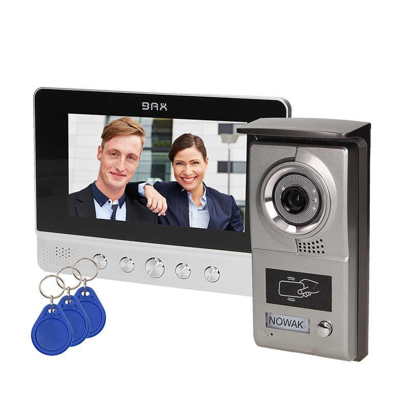 Wideodomofony - zestaw wideodomofonowy z czytnikiem breloków charon bax 7 vdp-40 orno firmy ORNO