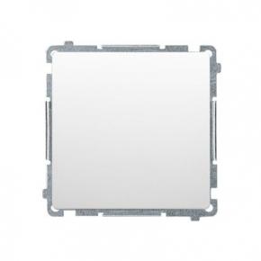 Biały przycisk zwierny bez piktogramu (moduł)  szybkozłączka BMP1.01/11 Simon Basic Kontakt-Simon