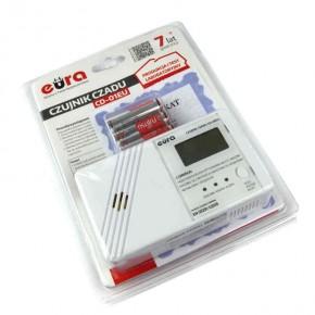 Czujniki-czadu - czujnik czadu z wyświetlaczem lcd na baterie 2xaa cd-01eu eura