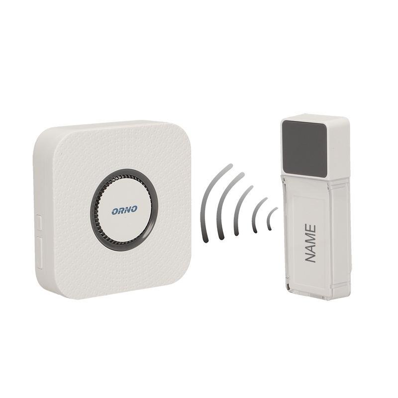 Dzwonki-do-drzwi-bezprzewodowe - dzwonek bezprzewodowy bateryjny z learning system torino dc  or-db-fx-129 orno firmy ORNO