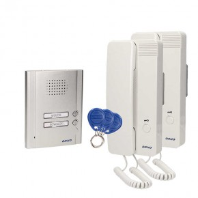 Dzwonki-i-domofony - dwurodzinny zestaw domofonowy z czytnikiem breloków podtynkowy legio multi or-dom-qh-912 orno