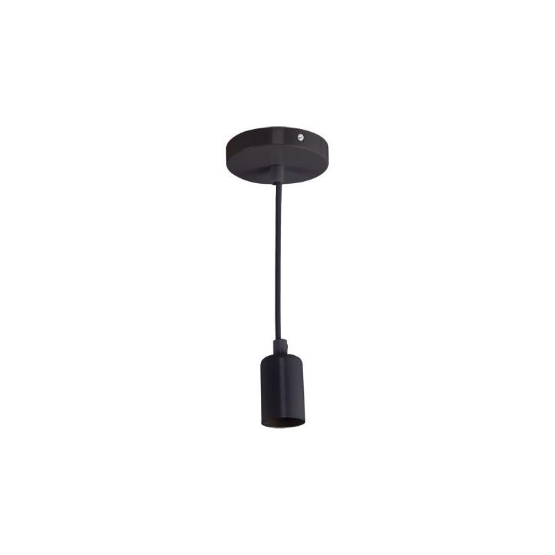 Lampy-sufitowe - oprawa na żarówkę zwisająca czarna uno e27 clg black 03811 ideus firmy IDEUS