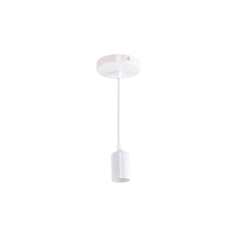 Lampy-sufitowe - wisząca oprawka na żarówkę biała zwis uno e27 clg white 03810 ideus firmy IDEUS