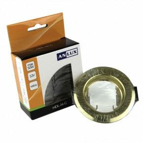 Oswietlenie-sufitowe - oprawa stała złota mr16 hdl-14-g anlux