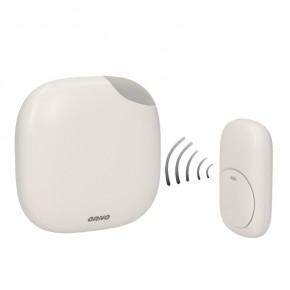 Dzwonki-do-drzwi-bezprzewodowe - bezprzewodowy dzwonek do drzwi 230v z learning system i funkcją alarmu logico ac or-db-qm-125 orno