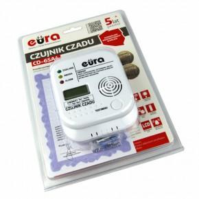 Czujniki-czadu - czujnik tlenku węgla biały na baterie z wyświetlaczem lcd 3xaa cd-65a4 eura