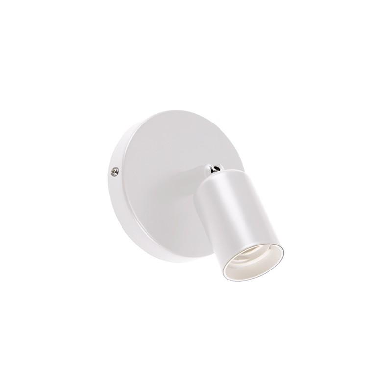 Kinkiety - oprawka ścienna na żarówkę biała uno e27 1c white 03812 ideus firmy IDEUS