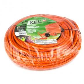 Przedluzacze-elektryczne - ogrodowy przedłużacz jednogniazdowy pomarańczowy z uziemieniem 30m 16a 4000w 3x1,5m po-st/30m plastrol