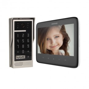 Wideodomofony - zestaw wideodomofonowy z szyfratorem dico 7 czarny or-vid-vp-1055/b orno