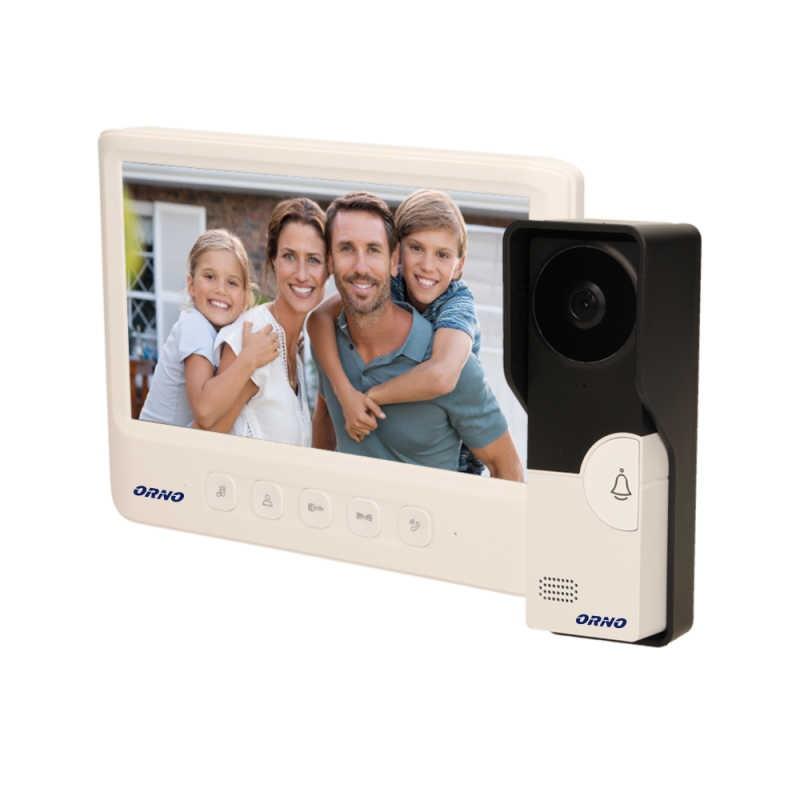 Wideodomofony - biały zestaw wideodomofonowy imago 7 or-vid-mc-1059/w orno firmy ORNO