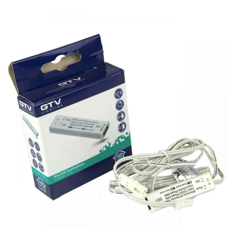Zestawy-sterowania-bezprzewodowego - włącznik bezdotykowy uniwersalny biały 12v dc ae-wbbuni-10dim gtv firmy GTV