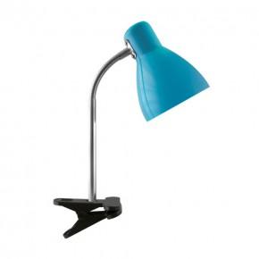 Lampki-biurkowe - lampka biurkowa z klipsem na zwykłą żarówkę e27 kati blue 02863 ideus