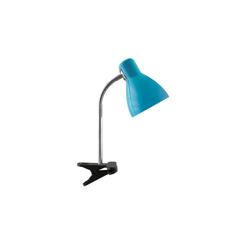 Lampki-biurkowe - lampka biurkowa z klipsem na zwykłą żarówkę e27 kati blue 02863 ideus firmy IDEUS