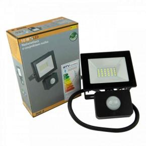 Naswietlacze-z-czujnikiem-ruchu - naświetlacz led z czujnikiem ruchu czarny ip65 6400k in-flr10wc-64 innovo